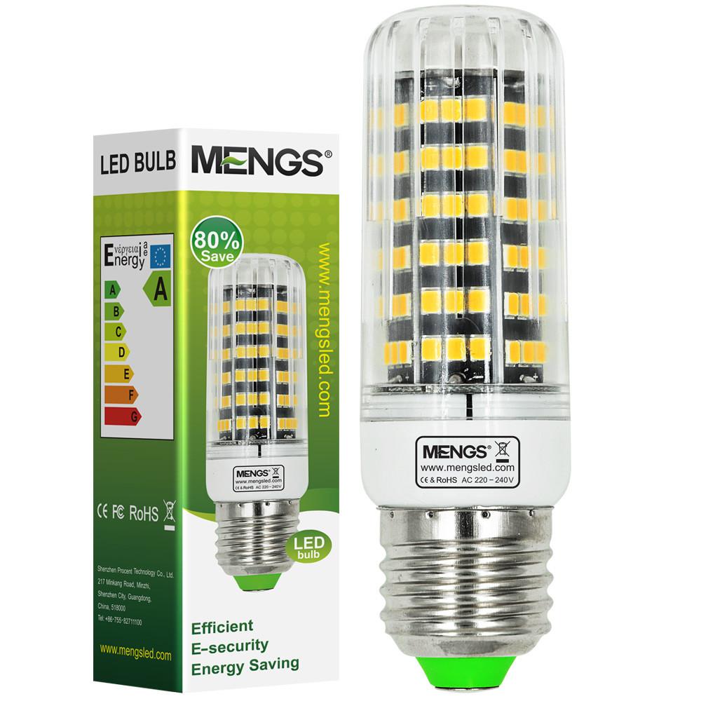 MENGS® E27 12W LED Corn Light 123x 2835 SMD LED Bulb Lamp In Cool White Energy-Saving Light