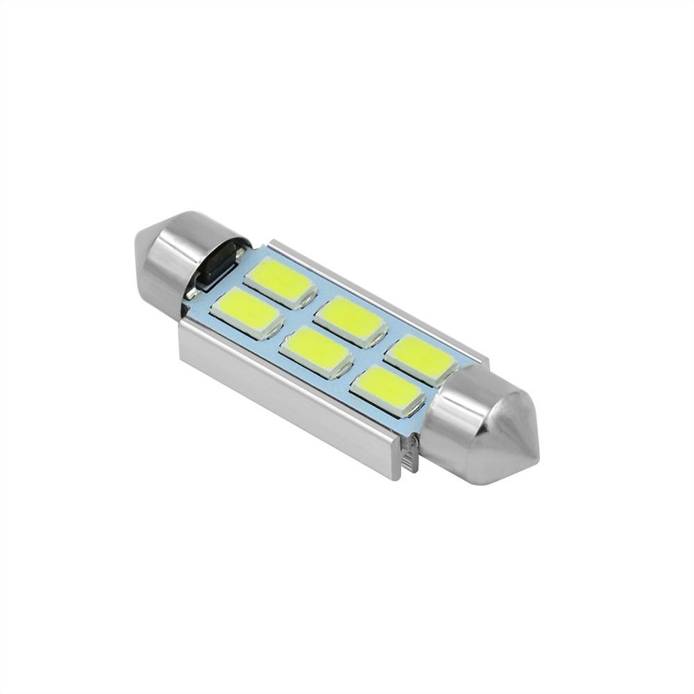 MENGS® SV8.5 3W LED Car Light 6x 5730 SMD Canbus Car Bulb for Reading Light / License Plate Light DC 12V In Cool White